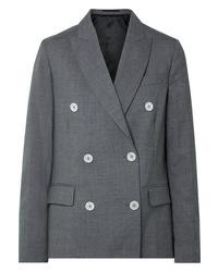 Blazer cruzado de lana en gris oscuro de Golden Goose Deluxe Brand