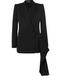 Blazer cruzado de lana negro de Alexander McQueen