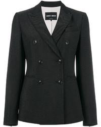 Blazer cruzado de lana negro de Giorgio Armani