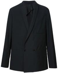Blazer cruzado de lana negro de Lemaire