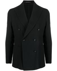 Blazer cruzado de lana negro de Tagliatore