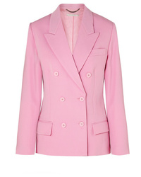 Blazer cruzado de lana rosado de Stella McCartney