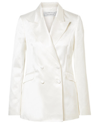 Blazer cruzado de seda blanco de Gabriela Hearst