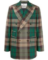 Blazer cruzado de tartán verde oscuro de Vivienne Westwood