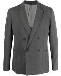 Blazer cruzado en gris oscuro de Giorgio Armani