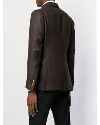Blazer cruzado en marrón oscuro de Tagliatore