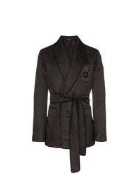Blazer cruzado estampado negro de Dolce & Gabbana