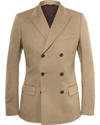 Blazer cruzado marrón claro de Dolce & Gabbana