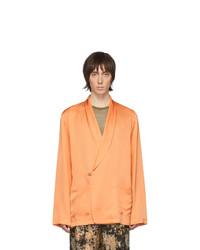 Blazer cruzado naranja de Dries Van Noten