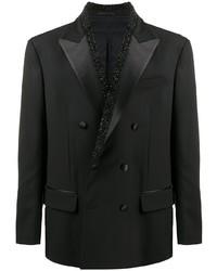 Blazer cruzado negro de Versace