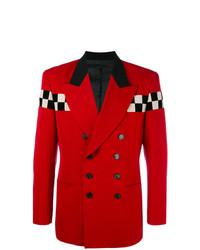 Blazer cruzado rojo de Jean Paul Gaultier Vintage