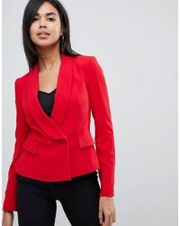 Blazer cruzado rojo de Karen Millen