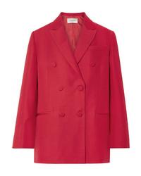 Blazer cruzado rojo de Valentino