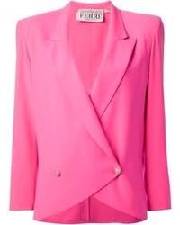 Blazer cruzado rosa de Gianfranco Ferre