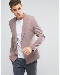 Blazer cruzado rosado de Asos