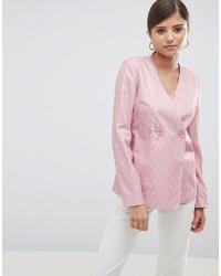 Blazer cruzado rosado de Fashion Union