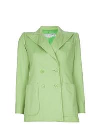 Blazer cruzado verde de Yves Saint Laurent Vintage