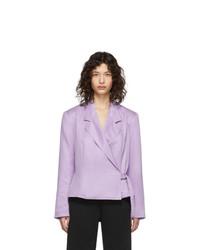 Blazer cruzado violeta claro de Pyer Moss