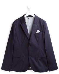 Blazer de algodón azul marino de Armani Junior