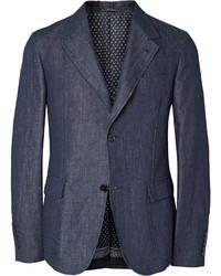 Blazer de algodón azul marino de Gucci