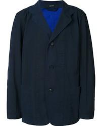 Blazer de Algodón Azul Marino de Issey Miyake