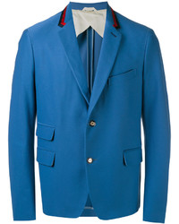 Blazer de algodón azul de Gucci
