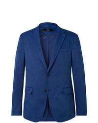 Blazer de algodón azul de Hugo Boss