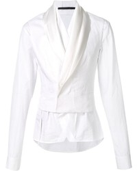 Blazer de algodón blanco de Haider Ackermann