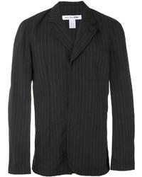 Blazer de algodón de rayas verticales negro de Comme des Garcons