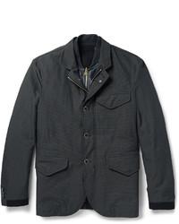 Blazer de algodón en gris oscuro de Dolce & Gabbana