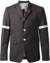 Blazer de algodón en gris oscuro de Thom Browne