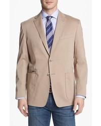 Blazer de algodón marrón claro