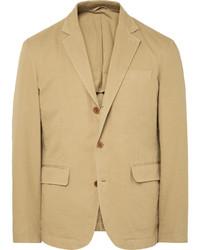 Blazer de algodón marrón claro de Alex Mill