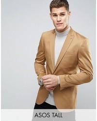 Blazer de algodón marrón claro de Asos