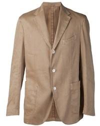 Blazer de algodón marrón claro de Boglioli