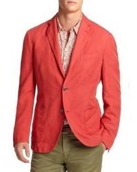 Blazer de algodón rojo