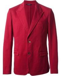 Blazer de algodón rojo de Dolce & Gabbana