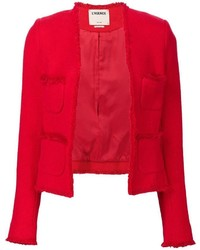 Blazer de algodón rojo de L'Agence