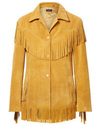 Blazer de ante сon flecos amarillo de Isabel Marant