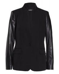 Blazer de Cuero Negro de DKNY
