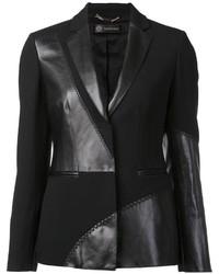 Blazer de Cuero Negro de Versace