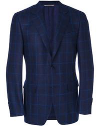 Blazer de lana a cuadros azul marino de Canali