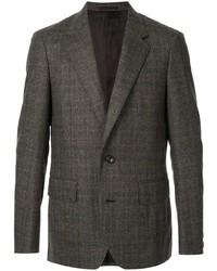 Blazer de lana a cuadros en marrón oscuro de Kolor