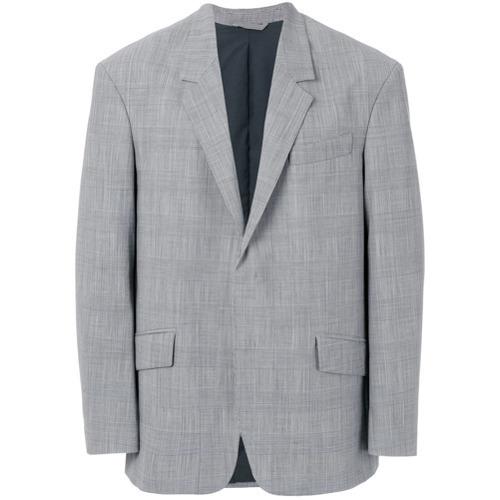 Blazer de lana a cuadros gris de Tonello Cs