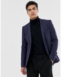 Blazer de lana azul marino de ASOS DESIGN