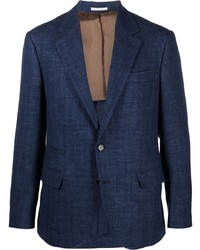 Blazer de lana azul marino de Brunello Cucinelli