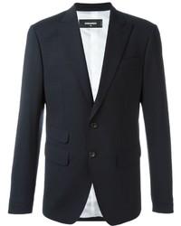 Blazer de lana azul marino de DSQUARED2
