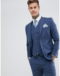 Blazer de lana azul marino de Gianni Feraud