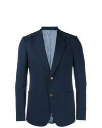 Blazer de lana azul marino de Gucci