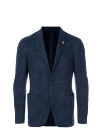 Blazer de lana azul marino de Lardini